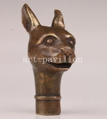 Bronze Lovely Rabbit Cane Walking Stick Head Handle Collection