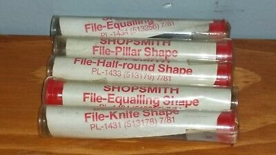 Shopsmith File Filing Shape, set of 4+1, never used!!