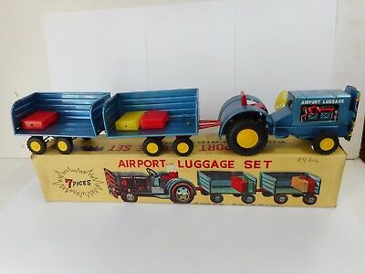 Vintage Power Friction Airport Luggage Set  .... Made In Japan
