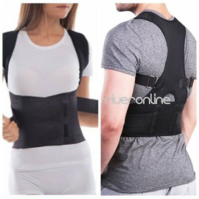 Men Unisex Adjustable Shoulder Support Belt Back Support Brace Posture Corrector