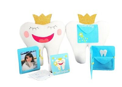 Tooth Fairy Pillow With Notepad And Keepsake Pouch 3 Piece Set Kids Children Toy
