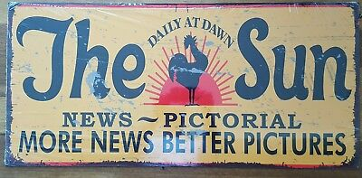 The Sun News-Pictorial - retro metal sign