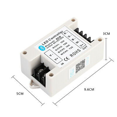 Bluetooth LED Controller 12V 33A RGB /42A RGBW For 5050 RGB/RGBW LED Strip Light