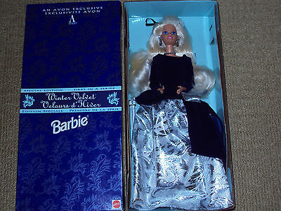 Avon Winter Velvet Barbie Doll From 1995 In Unopened Box