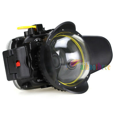 Seafrogs 60m/195ft Diving Case +Fisheye Wide Angle Dome Port For Olympus TG4 TG3