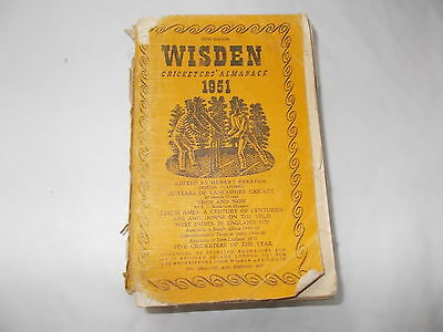 The 1951 Wisden Cricketers Almanack -Soft Cover