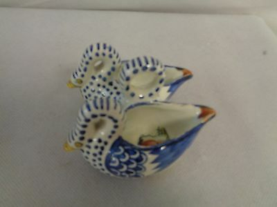Henriot Quimper Twin Swan Dish - Slight Damage To The Rims        (Qu)