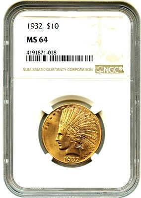 1932 $10 NGC MS64 - Indian Eagle - Gold Coin