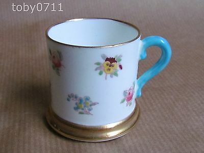 CROWN STAFFORDSHIRE CHINA MINIATURE TANKARD HAND ENAMELLING (Ref1028)