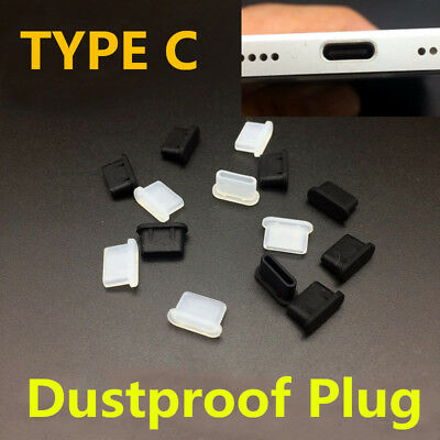 Soft Plastic USB Port Plug Cover Cap Anti Dust Protector For Type C Phone Lot