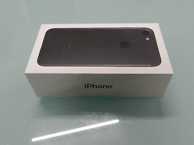 Apple iPhone 7 Box, with unused Charger and Usb cable, Manual.