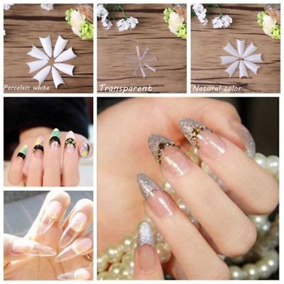 500Pcs Fashion False Nail Tips Natural Acrylic UV Gel French DIY Nail Art Tools