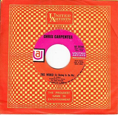 Chris Carpenter *the World Is Closing In On Me/ Waterfalls* 1968 Us Psych