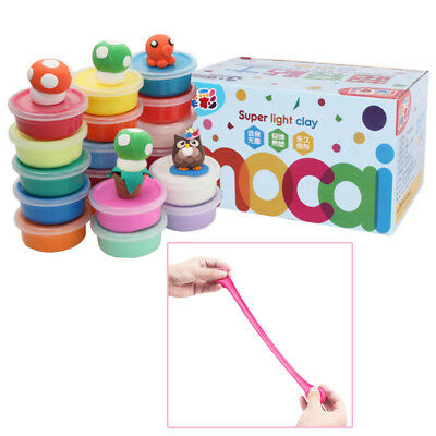 Chic Super Light Clay Set Bright Color Plasticine Clay Kids Play Toys With Box