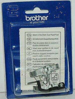 Brother Genuine Sewing Machine Foot Stitch in the Ditch Dual Feed foot - F075