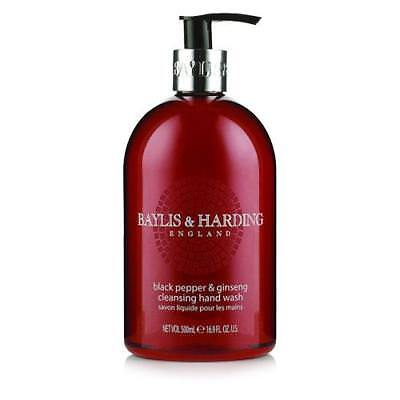 Baylis and Harding 4 x Hand Wash 500ml - Black Pepper and Ginseng
