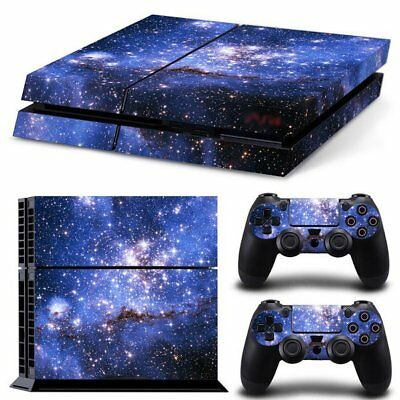 Vinyl Sticker Pattern Decals Cover for PS4 Console & Controller Skin Galaxy v4