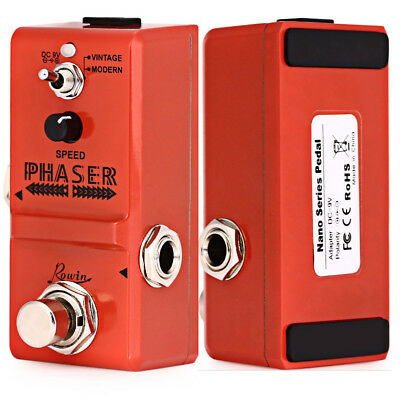 ROWIN Portable Phaser Guitar Effect Pedal By Pass True Bypass Real Signal