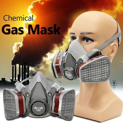 Double Filter Gas Mask Protection Antivirus Respirator Chemical Industrial Safe