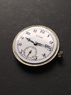 Cyma 1920/30s Movement With Porcelain Dial And Hands