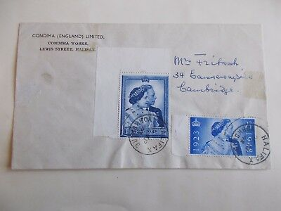 GVI 1948 Silver Wedding Set First Day Cover - cds Halifax Yorkshire Cat £425