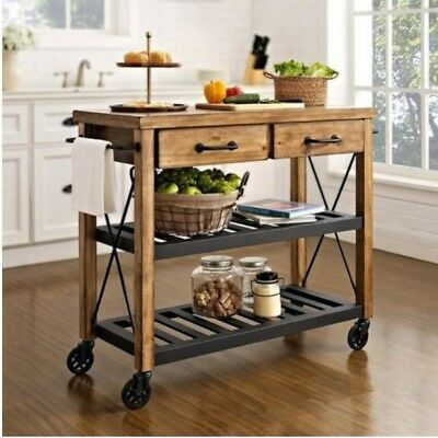 HARDWOOD Butlers Trolley on Wheels Butler's Drinks Decor Modern Contemporary