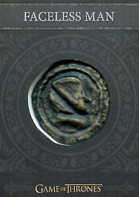 Game Of Thrones Valyrian Steel PROP RELIC card H10 FACELESS MAN COIN