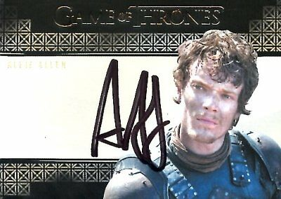 Game Of Thrones Valyrian Steel VALYRIAN AUTOGRAPH card ALFIE ALLEN as THEON