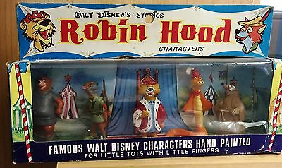 Disney figurine set of all 5 MIB !! Robin Hood Disneykins Marx Disneykings