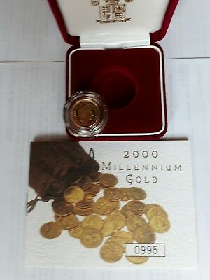 2000  Proof Half Gold Soverien Boxed With Coa