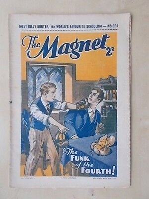 THE MAGNET - BILLY BUNTER'S OWN PAPER - VINTAGE BOYS COMIC - MARCH 20th 1937