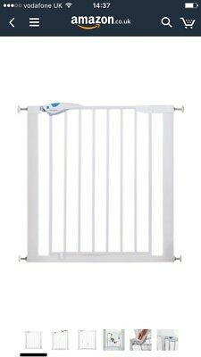 Lindam 051298 Easy Fit Plus Deluxe Pressure Fit Safety Gate - 76-82 cm White