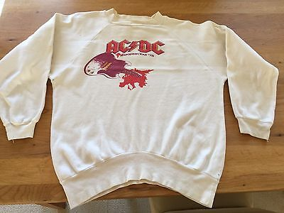 AC/DC Original Vintage 1978 If You Want Blood UK Tour Sweat shirt 100% genuine