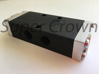 "Single Air Pilot Actuated Pneumatic Valve 5 Ports 3 Positions 1/4"" BSP SA-408-02"