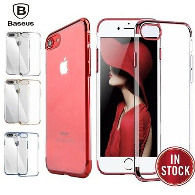 For iPhone 8 7 Plus Ultra Thin Transparent Clear Shockproof Bumper Case Cover