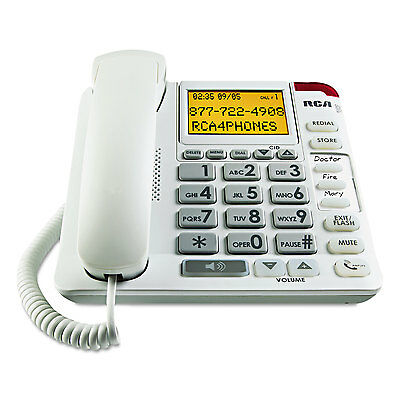 RCA 11241WTGA One-Line Amplified Big Button Corded Phone
