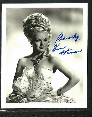 June Haver Signed Photo In Costume Uninscribed