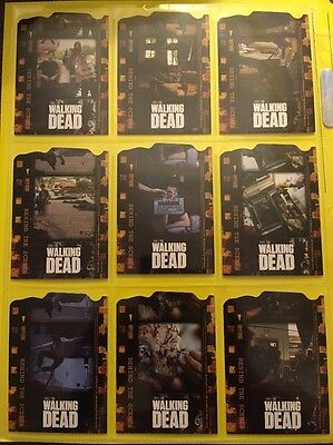 The Walking Dead Season 1 Complete Die Cut Behind The Scenes Card Set C01-C09