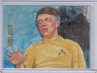 STAR TREK TOS 50th SKETCH CARD ARTIST ROY COVER  - LT. GARY MITCHELL ARCHIVE