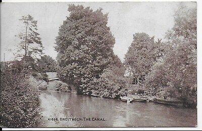 Rare Vintage Animated Postcard Of The Canal,droitwich,worcestershire,1922