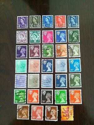 34 Used Stamps Of Scotland  Regional Issues.