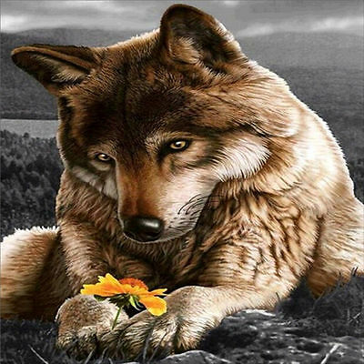 "Diamond Painting - Diamant Malerei - Stickerei - ""Wolf"" - Set - Neu (604)"