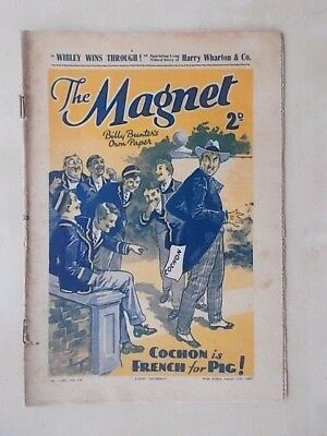 THE MAGNET - BILLY BUNTER'S OWN PAPER - VINTAGE BOYS COMIC - AUGUST 21st 1937