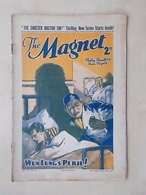 THE MAGNET - BILLY BUNTER'S OWN PAPER - VINTAGE BOYS COMIC - AUGUST 28th 1937