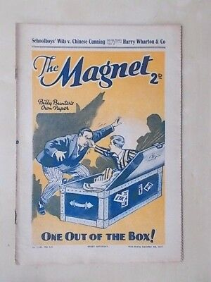 THE MAGNET - BILLY BUNTER'S OWN PAPER - VINTAGE BOYS COMIC - SEPTEMBER 4th 1937