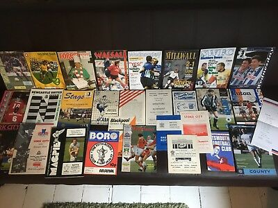 Large Collection of 1960s onwards programmes all Listed