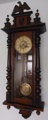 large walnut cased vienna wall clock c1900s