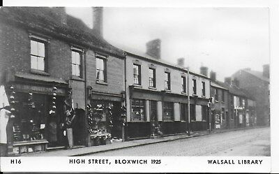 Rare  Vintage,1960/70's Postcard,high Street,bloxwich,1925,walsall Library,rp