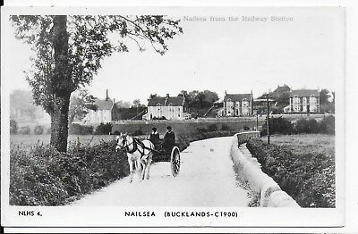 Vintage,1960/70's Postcard,nailsea From The Railway Station(Bucklands 1900),rp