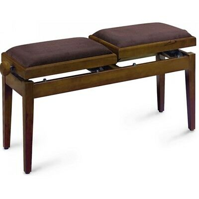 Stagg Double Piano Bench Walnut